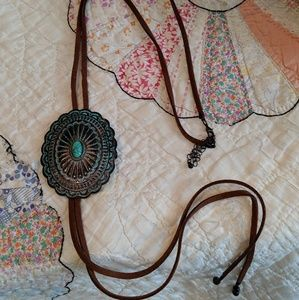 Jewelry - Turquoise Patina Concho Necklace